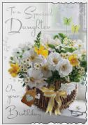 Daughter Flowers Birthday Card